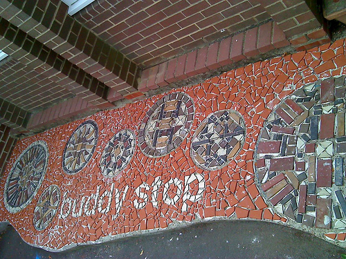 Floor mosaic…