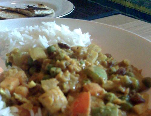 Mild lentil curry…