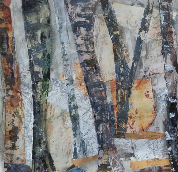 Mixed media collage course…