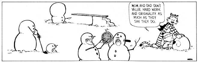 Calvin and Hobbes - Snowmen
