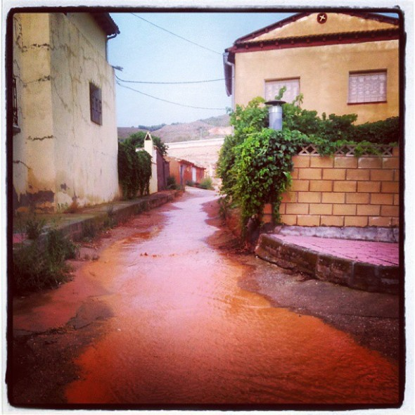 The rain in Spain falls mainly in Contamina. Well it did today!!! (228/365) #ClaraGoesToSpain
