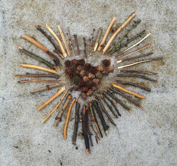 A snowy heart…