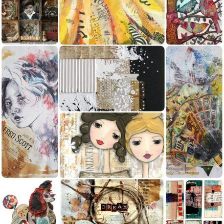 Mixed media collage course